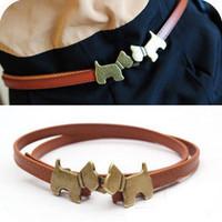New style Cute puppy Belt Fashion Women's Belts Free Shipping 3 Colors