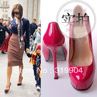 Fashion Brand New womens shoes star pink patent leather high heels Pumps / Free shiping