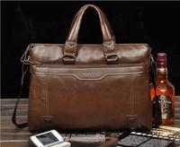 2013Hot sale fashion soft leather briefcase, leather laptop bags for men, men's big size shoulder bags, business briefcase MB01