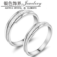 Lovers ring 925 pure silver ring finger ring silver jewelry high quality lettering