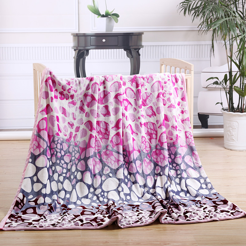 Coral fleece wool blanket flannel blanket casual blanket coral blanket thickening super soft(China (Mainland))