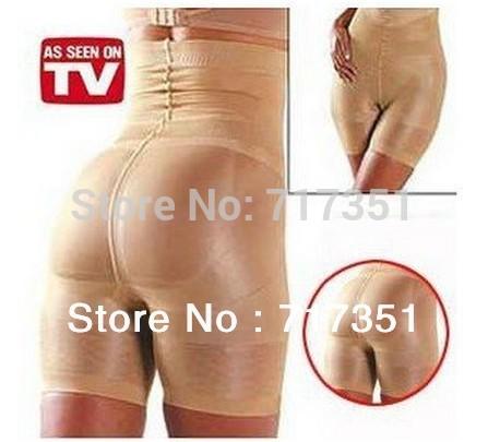 California Beauty Slimming pants, slimming Lift/Slim Pants Body Shape Beige and black Free Shipping T1004(China (Mainland))
