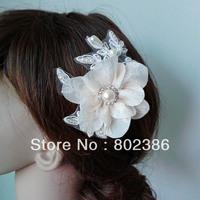 Free Shipping Bridal hair flowers,Wedding Accessories,Bridal hair pins,Rhinestone Lace hair comb brida,Bridal hair comb