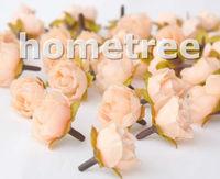 "Lovely 60pcs 1"" Light Orange Silk Flowers Heads Rose Flower Wedding Birthday Party Decorations Free Shipping"