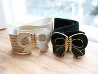Free Shipping 2013 Korean Rhinestone Bow female elastic stretch belt girdle ladies dress sub belt