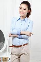 2013 women fashion summer clothing,ladies work wear office blouse XXL female shirts/blouses,ladies tops,White,Blue,Pink