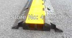 Free shipping stage cable groove PVC cable trough cover ramp wire protector wire floor cable wire trough cable tray(China (Mainland))