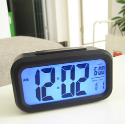 Alarm clock large screen silent led electronic clock induction light luminous clock(China (Mainland))