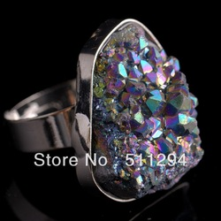 Gaint Designer Drusy Druzy Agate Ring(China (Mainland))