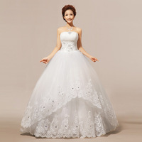 2013 lace tube top fashion princess puff  the bride wedding dress formal dress