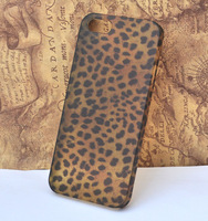 the leopard pattern mobile / cell phone Case for apple iphone 5 protective cover [JCZL DIY Shop]