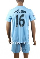 free shipping new 13-14 Manchester City  #16 AGUERO  light blue  soccer jersey  fashion  uniforms jerseys cheap hot sell