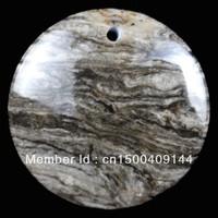 E0332  Free Shopping Beautiful Romantic Fashion Natural Sea Sediment Jasper&Pyrite pendant bead 1pcs/lot