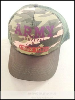 Free shipping Sugar high quality summer male female child cap baseball cap hat cutout Camouflage 54 - 56