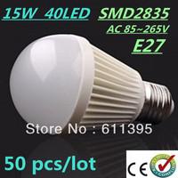 Free FEDEX and DHL 50pcs/lot Bubble Ball Bulb SMD2835 15/25/35/40LED 6W/9W/12W/15W E27 High power Energy Saving Ball steep