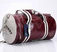 2013Men's Fashion barrel bag shoulder oblique cross PU messenger bag for man fashionable cylinder sports bag free shipping MB137