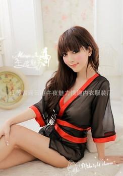 Free Shipping,Sex Vibrator, Sexy uniform taste uniform kimono robe ,factory price,Traditional type of clothing