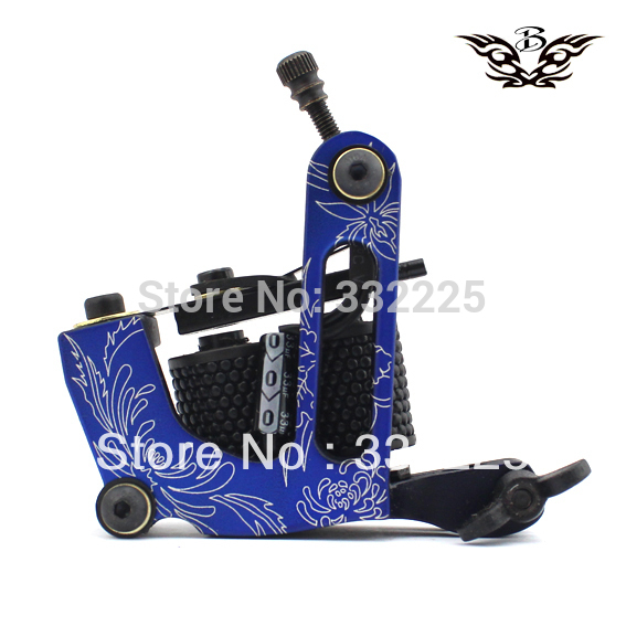 2013 new arrivaled tattoo machine gun 10 wraps coil professional frame free shipping body Tool supply(China (Mainland))