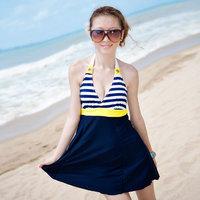 2012 12302 skirt one piece slim hot spring swimsuit female swimwear