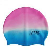 Bribed swimming cap waterproof quality silica gel swimming cap powder blue