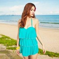 2013 12014 skirt one piece slim hot spring swimsuit female swimwear
