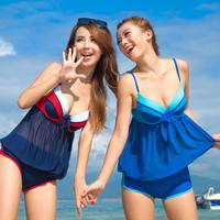 2013 1226 split small push up swimsuit hot springs steel female swimwear