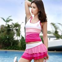 2012 13045 skirt split piece set hot spring swimsuit female swimwear