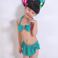Child 2013 polka dot fashion bikini child swimwear