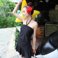 2013 1310 skirt plus size one piece plus size swimsuit hot springs female swimwear
