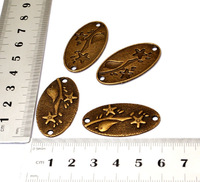 (10pcs/bag) wholesale The bird oval tag Bronze  flatback metal alloy findings jewelry accessories for handmade  [JCZL DIY Shop]