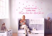 Twinkle Twinkle Little star- Wall Decals - Nursery Wall Decals -Vinyl Lettering Wall Art  50*125CM  Free shipping