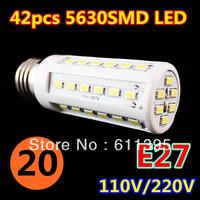 20pcs/lot Retail 12W 42LED 5630 SMD E27 E14 B22 Corn Bulb Light Maize Lamp LED Light Bulb Lamp LED Lighting Warm/Cool White