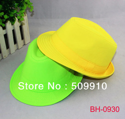 Cheap Mexican Cowboy Hats Children Colorful Fedora Hat Kids Canvas Derby Hats Baby Summer Jazz Cap Free Shipping 10pieces/lot(China (Mainland))
