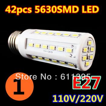 1pcs/lot Retail 12W 42LED 5630 SMD E27 E14 B22 Corn Bulb Light Maize Lamp LED Light Bulb Lamp LED Lighting Warm/Cool White