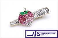 Rhinestone Crystal Colorful Strawberry Fashion Hairpin,Hair Clips,Hair Claw Jaw, Hair accessories, 0162, Free Shipping