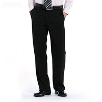 Wanjia male black straight work pants commercial straight western-style trousers all-match trousers work pants