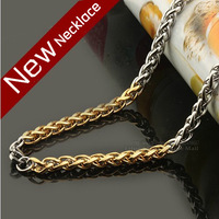 2013 Hot Sell Men's Titanium Steel Necklace,Fashion Stainless Steel Chain Necklace Titanium Jewelry Free Shipping
