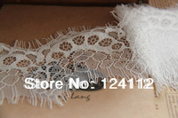 3 yards!!! 9.5cm Wide LT017 Free Shipping New Fashion High Quality DIY Off White Eyelet Embroidery Lace Trimming