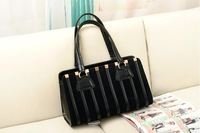 2013 Women's handbag fashion strap decoration stripe plaid bags shoulder bag handbag messenger bag Free Shipping