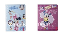 New Mix Cut  mickey Sleep bracket ultra-thin Holster Leather case cover for Ipad 2/3/4  5pcs/lot