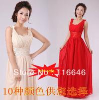 new wedding bridal formal dress toast bridesmaid dress floor-length long design XS  S  M  L  XL  XXL free shipping