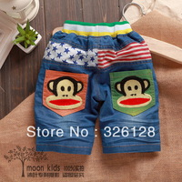 Child knee-length pants baby denim casual pants child denim shorts summer 2013 style