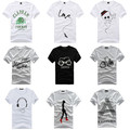 2012 Korean Men's Slim the summer printing short-sleeved round neck t -shirt short-sleeved T - shirt spike special purchase of s