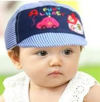 free shipping of  cotton material and  fashional visor cap baseball hats for kids car house panda cartoon design