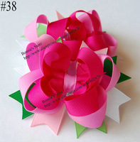 "Free shipping 10pcs/lot  4"" Boutique hair bows mix 38 designs Funky Bows"
