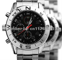 Free shipping 4GB waterproof watches DVR, watch camera(China (Mainland))