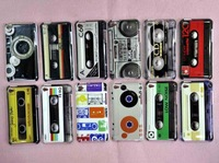 10 Pcs New Retro Magnetic Tape Style Hard Back Case Cover for iPod Touch 4 A103