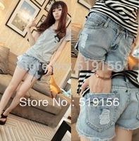 2014 new Spring Summer Women light blue jeans short pants slim denim shorts hot pants