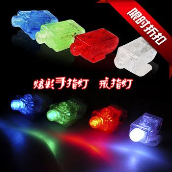 Flash led finger lights neon stick led ring light colorful finger lights