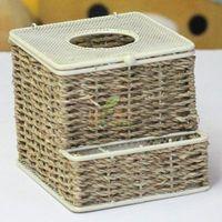 2013 brand designed Rattan paper pumping multifunctional tissue box, novelty household home desktop storage napkin box freeship
